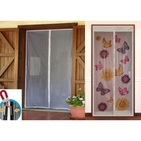 Zanzariera magnetica calamita 100x220cm universale porta finestra zanzare mosche - Zanzariera magnetica finestra ...