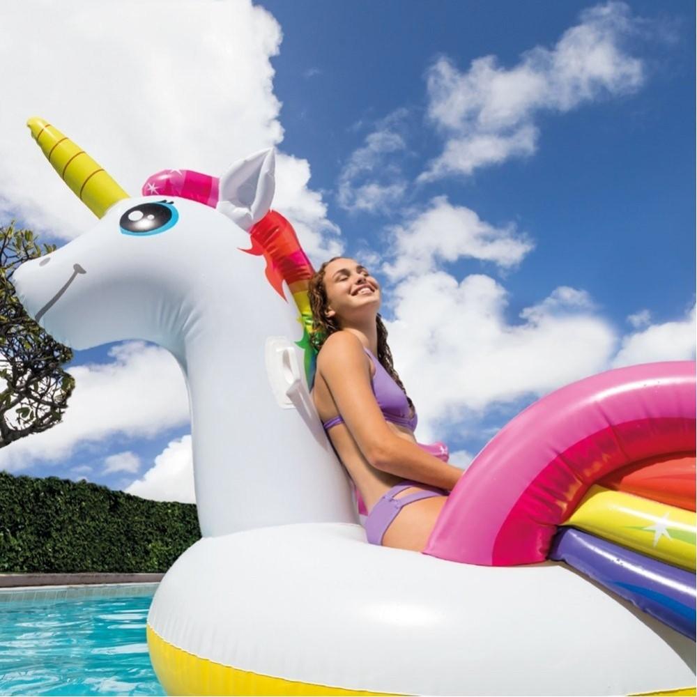 unicorno gonfiabile gigante isola materassino mare piscina
