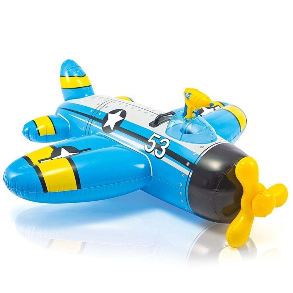 Aereoplano cavalcabile gonfiabile mare piscina con pistola acqua 2 colori - Acqua orecchie piscina ...