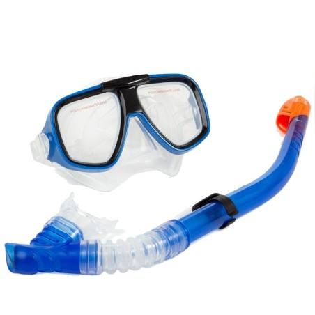 Set maschera boccaio pinne per immersioni snorkeling sub mare piscina blu - Pinne per piscina ...