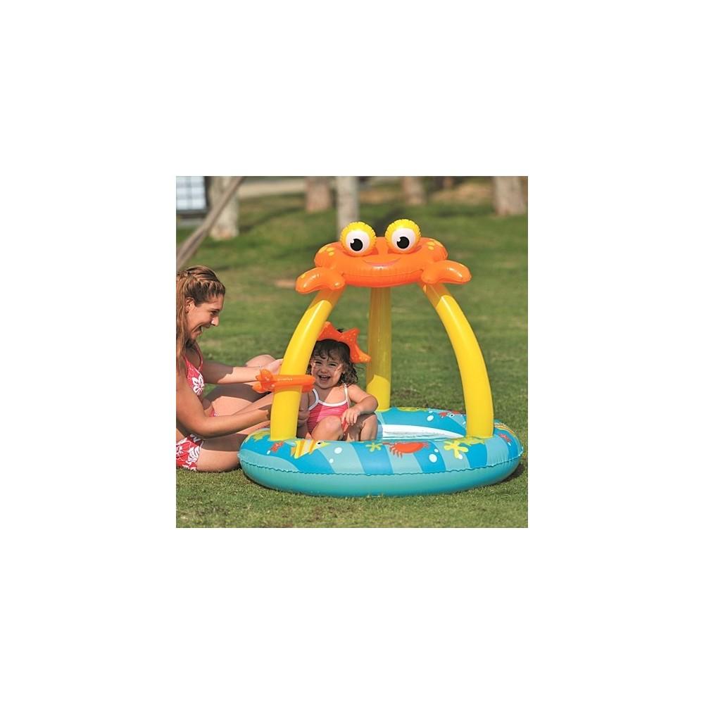 Piscina gonfiabile con parasole 100x95cm forma granchio for Attrezzi per piscina