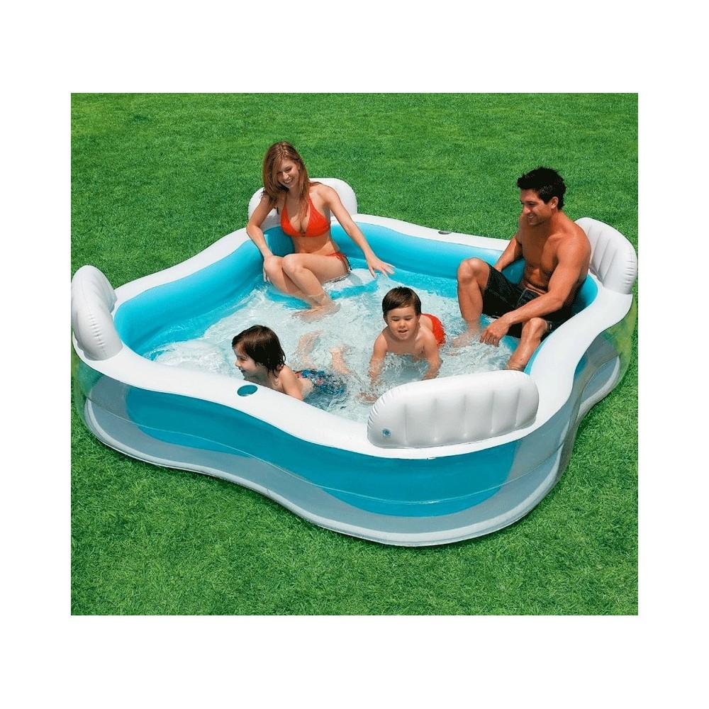 Acqua Azzurra Piscine piscina gonfiabile family cabana 310 x 188 x 130 cm spruzza