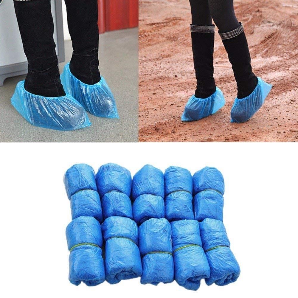 Betere overschoenen plastic Slippers eenmalig gebruik blauwe 100 voor Set XN-87