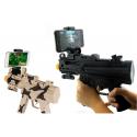 PISTOLA REALTà GUN 800 CONTROLLER 360° TIRO BLUETOOTH PER CELLULARE SMARTPHONE