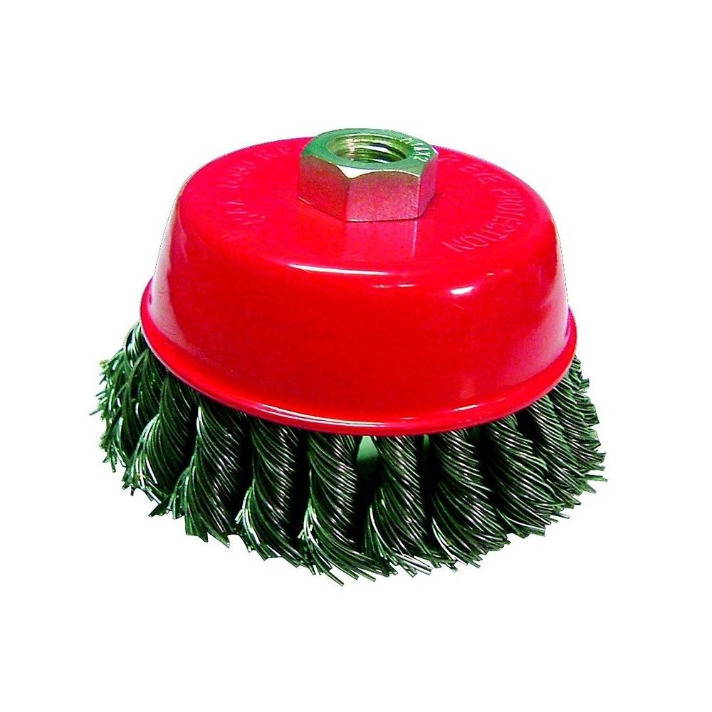 10/pezzi spazzola conica 100/mm Intrecciate M14/Filo di acciaio per smerigliatrice angolare flex