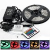 KIT STRISCIA LED RGB STRIP 5M 300 LED 5050 + CONTROLLER + TELECOMANDO 5 METRI