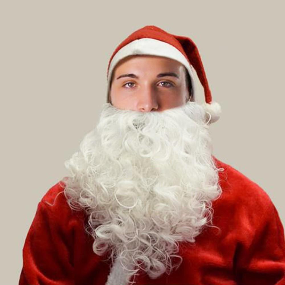 Vestito Babbo Natale Taglia 60.Barba Bianca Babbo Natale Realistica Accessorio Vestito Santa Claus Taglia Unica