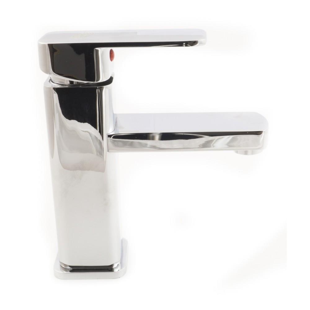 Rubinetto miscelatore cromato casa bagno lavabo completo di kit montaggio jh8801 - Montaggio accessori bagno ...