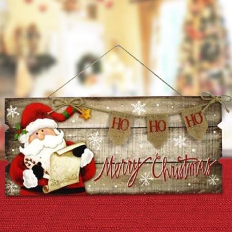 Decorazioni Natalizie Anni 70.Appendino Legno Con Babbo Natale Scritta Juta 2 Modelli Decorazioni Natalizie
