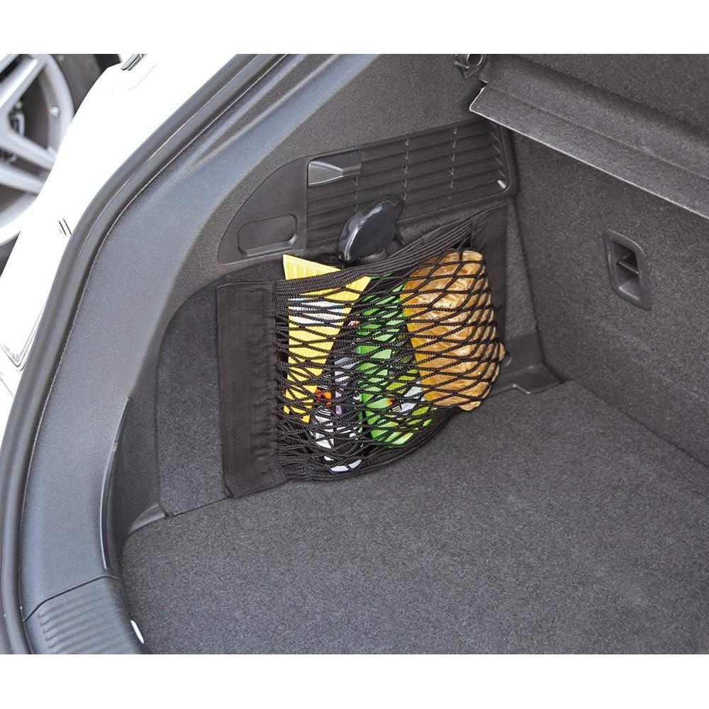 Aspiree Rete Portaoggetti Tasca Oganizer con Velcro Rete Bagagliaio Auto Telo Protettivo Portaoggetti Organizer per Bagagliaio di Tronco di Auto