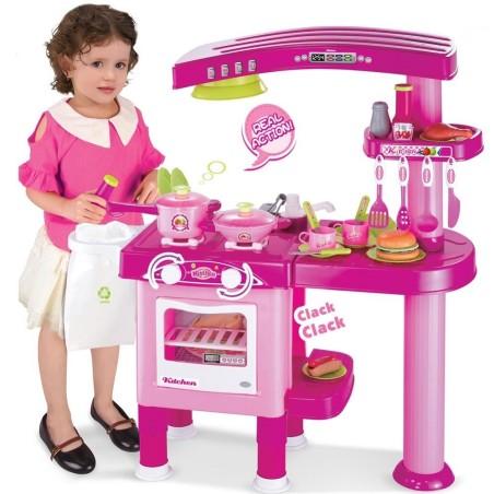Cucina per bambine giocattolo 69 accessori stoviglie luci for Accessori cucina giocattolo