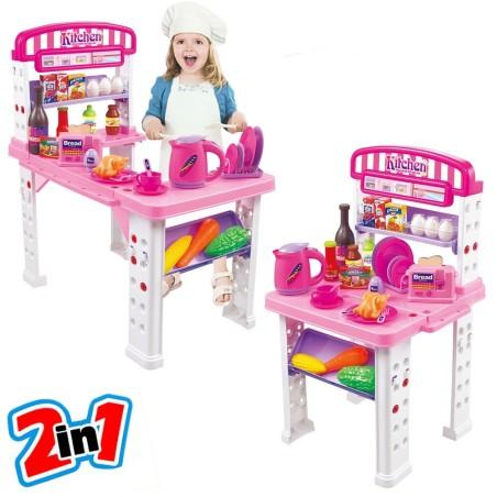 Playset cucina giocattolo bambini banco estensibile for Accessori cucina giocattolo