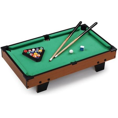 Carambola biliardo tavolo legno piedi 15 palle e 2 stecche 65x37x15cm - Tavolo da biliardo amazon ...