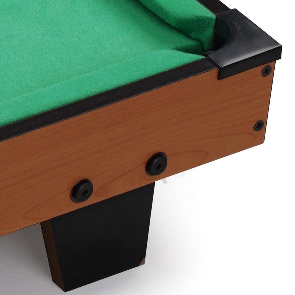 Carambola biliardo tavolo legno piedi 15 palle e 2 stecche 65x37x15cm - Piedi per tavolo in legno ...