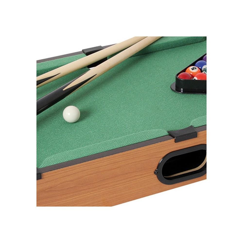 Mini biliardo da tavolo gioco in legno 2 stecche palle gesso triangolo - Mini biliardo da tavolo ...