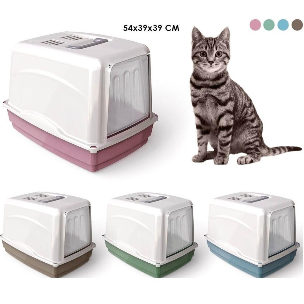 Lettiera Toilette Chiusa Maniglia Filtro Per Gatti Gatto Vicky