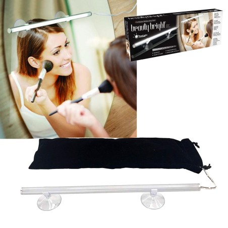 Applique lampada da parete specchio led ventose per make for Specchio make up da parete