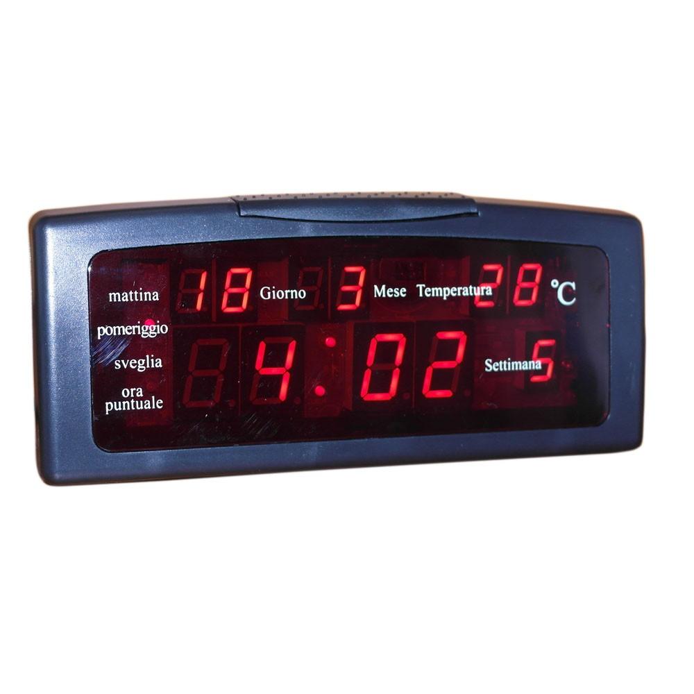 Sveglia Digitale Da Comodino Elettrica.Sveglia Digitale Elettrica Orologio Luce Led Con Data Giorno Temperatura Ebay
