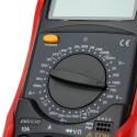 TESTER MULTIMETER DIGITALE 10A LCD ILLUMINATO CON PUNTALI UT51 MULTIMETRO