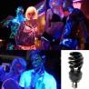 LAMPADA A BASSO CONSUMO SPIRALE LUCE NERA DI WOOD UV ULTRAVIOLETTI E27 28W T3
