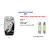 LAMPADINE DI POSIZIONE 12V 16LED 39MM LAMPADINE ULTRA LUMINOSE MAXTECH SV8.5-3528