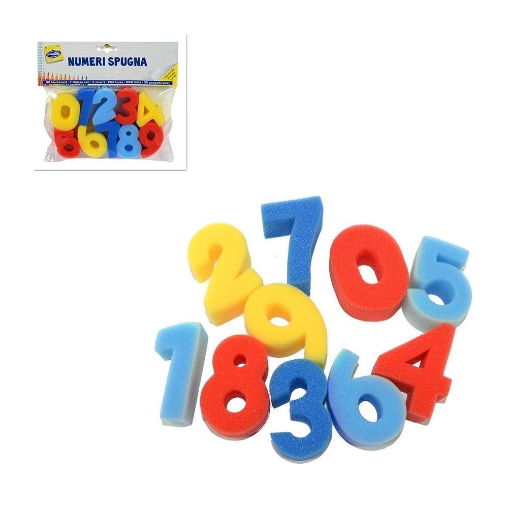 Numeri In Spugna Bambini Scuola Colorare Disegni