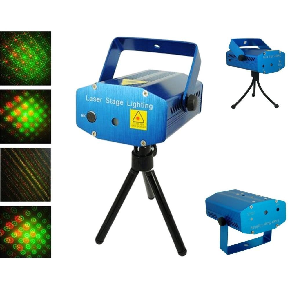 Mini Proiettore Laser Effetto Luci.Mini Proiettore Laser Effetto Puntini Luci Verde E Rosso Per Luce Discoteca
