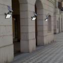 FARO FARETTO LED GIARDINO 48 LED 10W PICCHETTO PANNELLO ENERGIA SOLARE 2000MAH