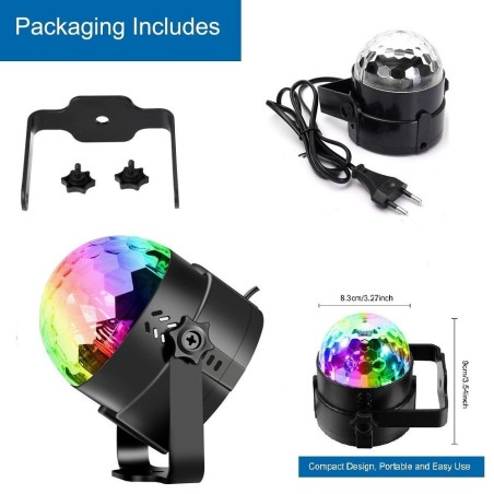 Mini Proiettore Effetto Luci Laser Per Disco Discoteca Dj.Mini Dj Laser Proiettore A Sfera Rgb Led Effetto Disco Luci Per Disco Bar