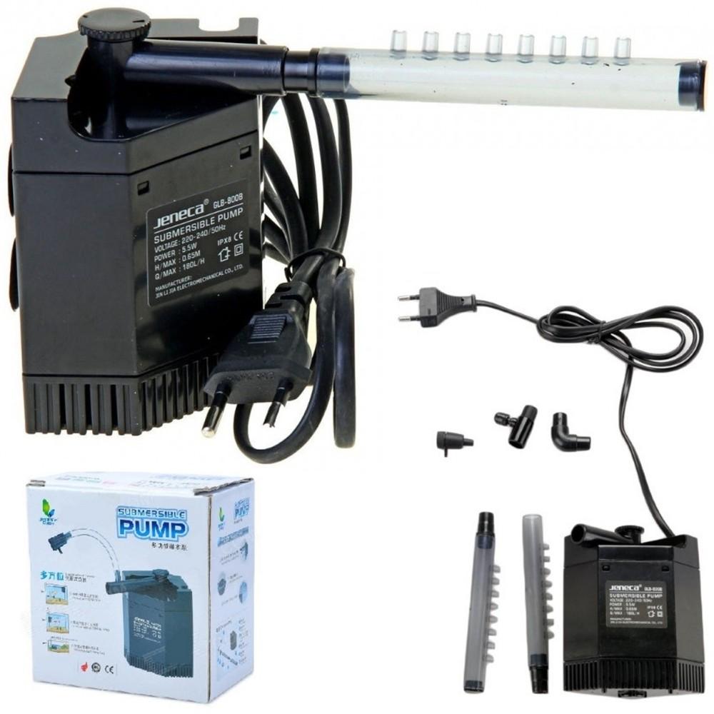Pompa filtro per acquario interno jeneca glb 800b 5 5w 180l h for Pompa per acquario tartarughe