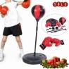 PUNCHING SPEED BALL BAMBINI ASTA REGOLABILE PALLA PUNCH BOXE SUPPORTO MOLLA