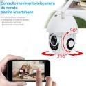 TELECAMERA IP CAMERA FULL HD 1080P WIRELESS MOTORIZZATA WIFI INTERNET DA ESTERNO