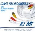 Cavo prolunga telecamera RCA BNC audio video alimentazione 10 20 30 50 METRI