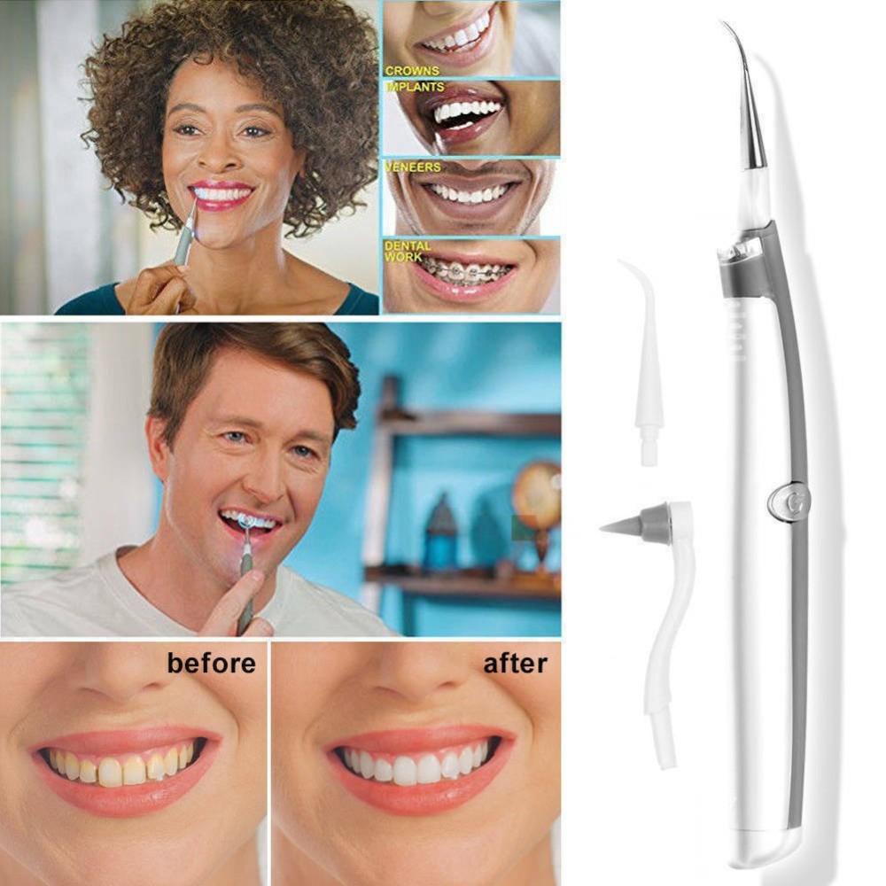 Kit per la Pulizia dei Denti orali elettrici a LED a ultrasuoni