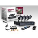 KIT VIDEOSORVEGLIANZA CCD DVR 4 CANALI TELECAMERA INFRAROSSI IR 24 LED LAN 3G