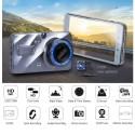 """MINI DVR TELECAMERA VIDEOREGISTRATORE PER AUTO 2 TELECAMERE SUPER HD DISPLAY 4"""""""
