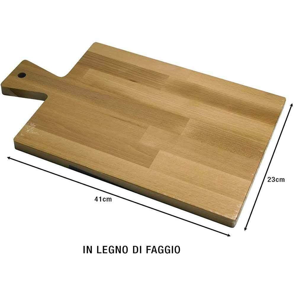 Tagliere Per Piano Cucina tagliere vassoio piano lavoro legno di faggio con manico