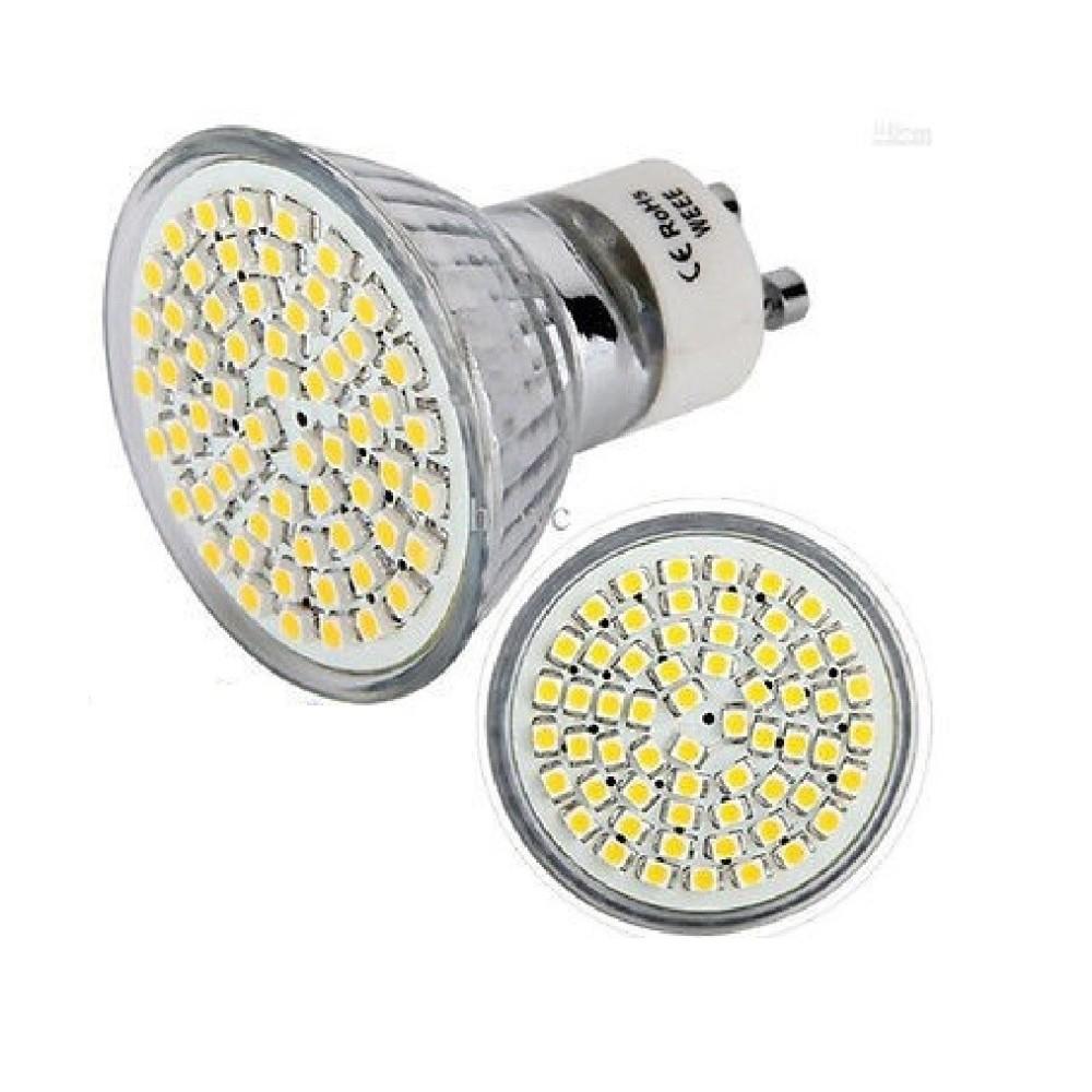 Lampadina led gu10 60led smd 220v faretto lampada spot 4w for Lampade led 220v