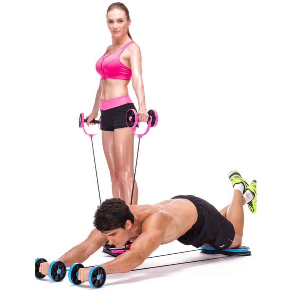 Roller Multifunzione Estensore Addominali Pettorali Glutei Cosce Fitness cir
