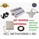 KIT AMPLIFICATORE GSM RIPETITORE 3G UMTS DOPPIA ANTENNA CELLULARI SMARTPHONE