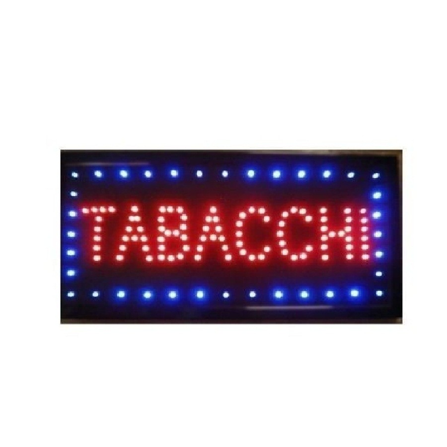BAR CAFFE/' PANINI PER ATTIVITA/' INSEGNA LUMINOSA A LED APERTO TABACCHI PIZZA