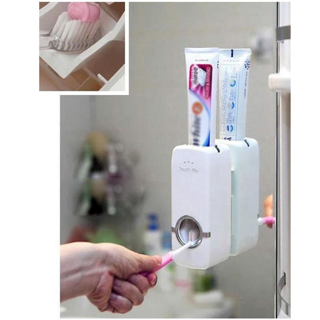 Spremidentifricio dispenser per dentifricio con tubo girevole colore: rosso x 1 bianco supporto per sedile per dentifricio Donpow