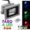 FARO FARETTO RGB LED 10W MULTICOLOR COLORI TENUTA STAGNA USO ESTERNO TELECOMANDO