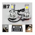 KIT XENON H7 LAMPADE A LED CREE FULL LED 50W 6000K DIGITALE BALLAST XENON BIANCA