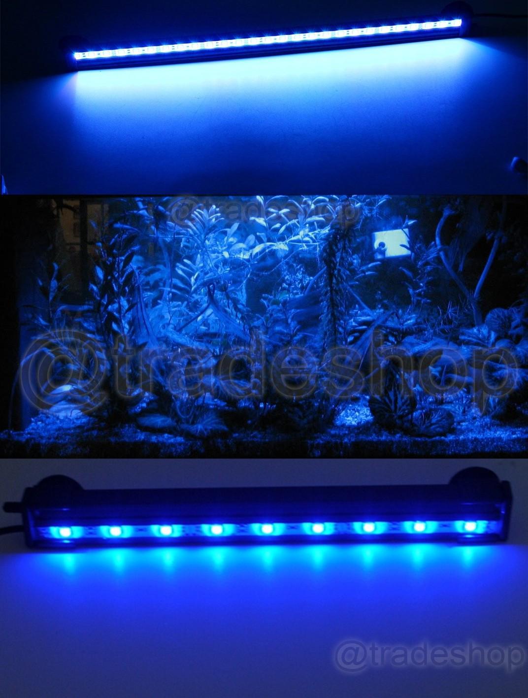 LAMPADA-IMMERSIONE-LED-PER-ACQUARIO-TUBO-LED-T4-DEE-LUCE-PESCI-BIANCA-RGB-BLU miniatura 4