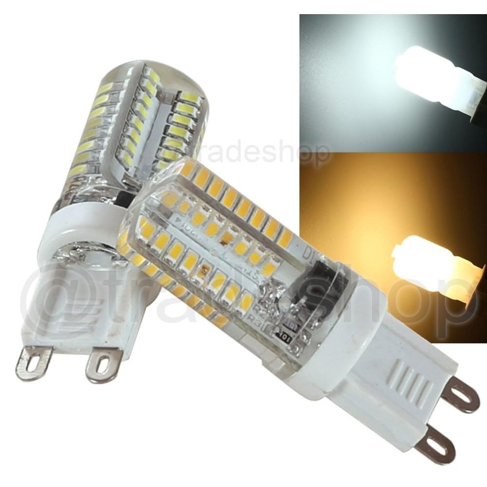 Lampada lampadina a led g9 3w 220v 64 led luce calda e o for Led luce calda