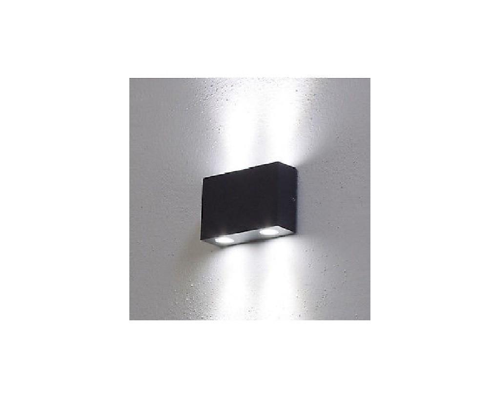 Faro da parete, applique LED caldo, 4W, color acciaio inox, uso ...