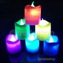 SET 24 PZ CANDELE A LED RGB CANDELA LAMPADA DA TAVOLO CASA UFFICIO CROMOTERAPIA