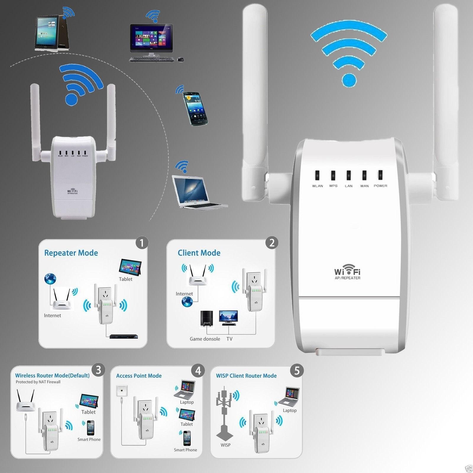 Amplificatore Segnale Router 300mbps 2.4ghz Wps Wi-fi Extender B/g/n Ap 802.11n 100% De MatéRiaux De Haute Qualité